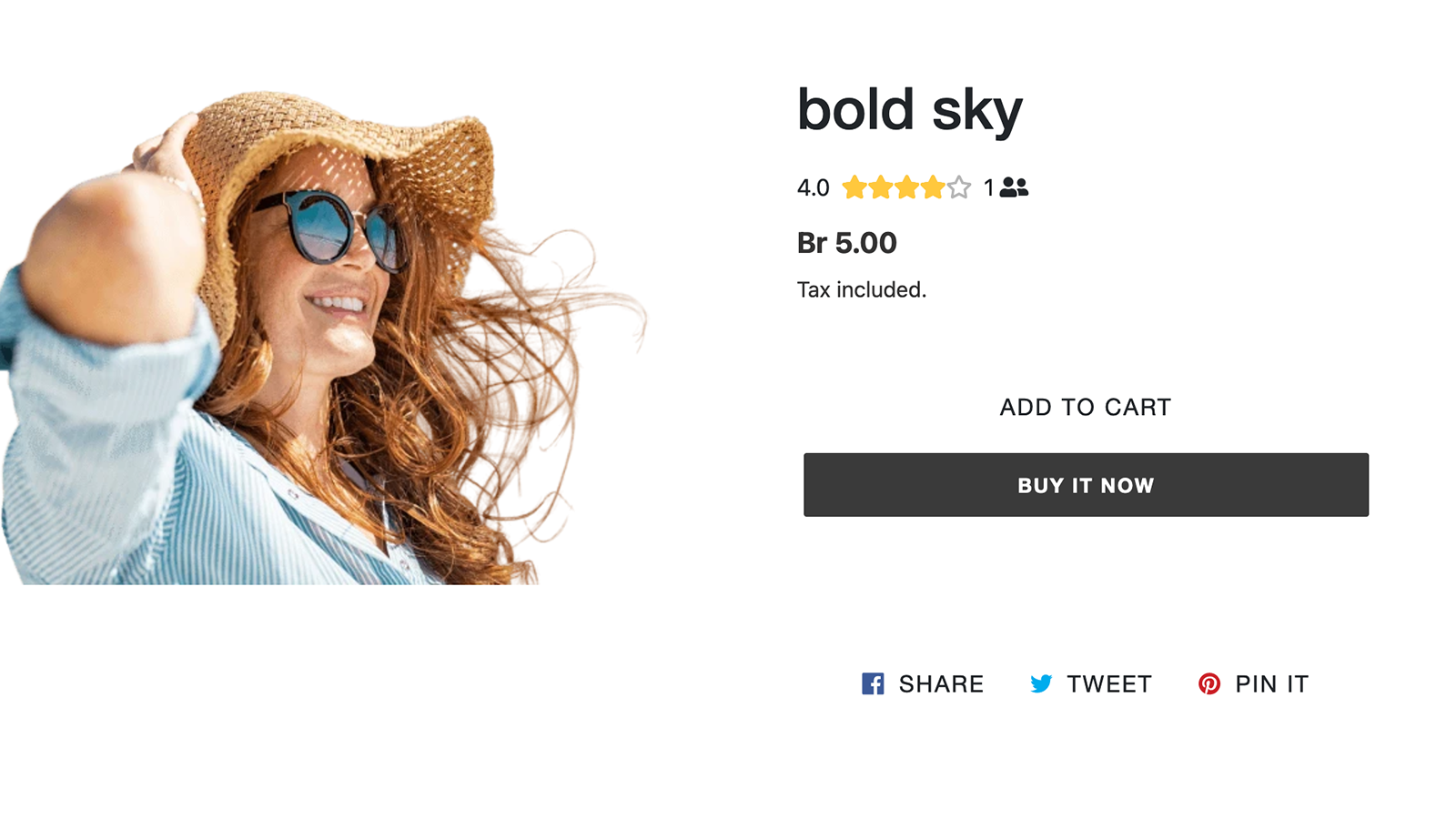 Stars on the product page