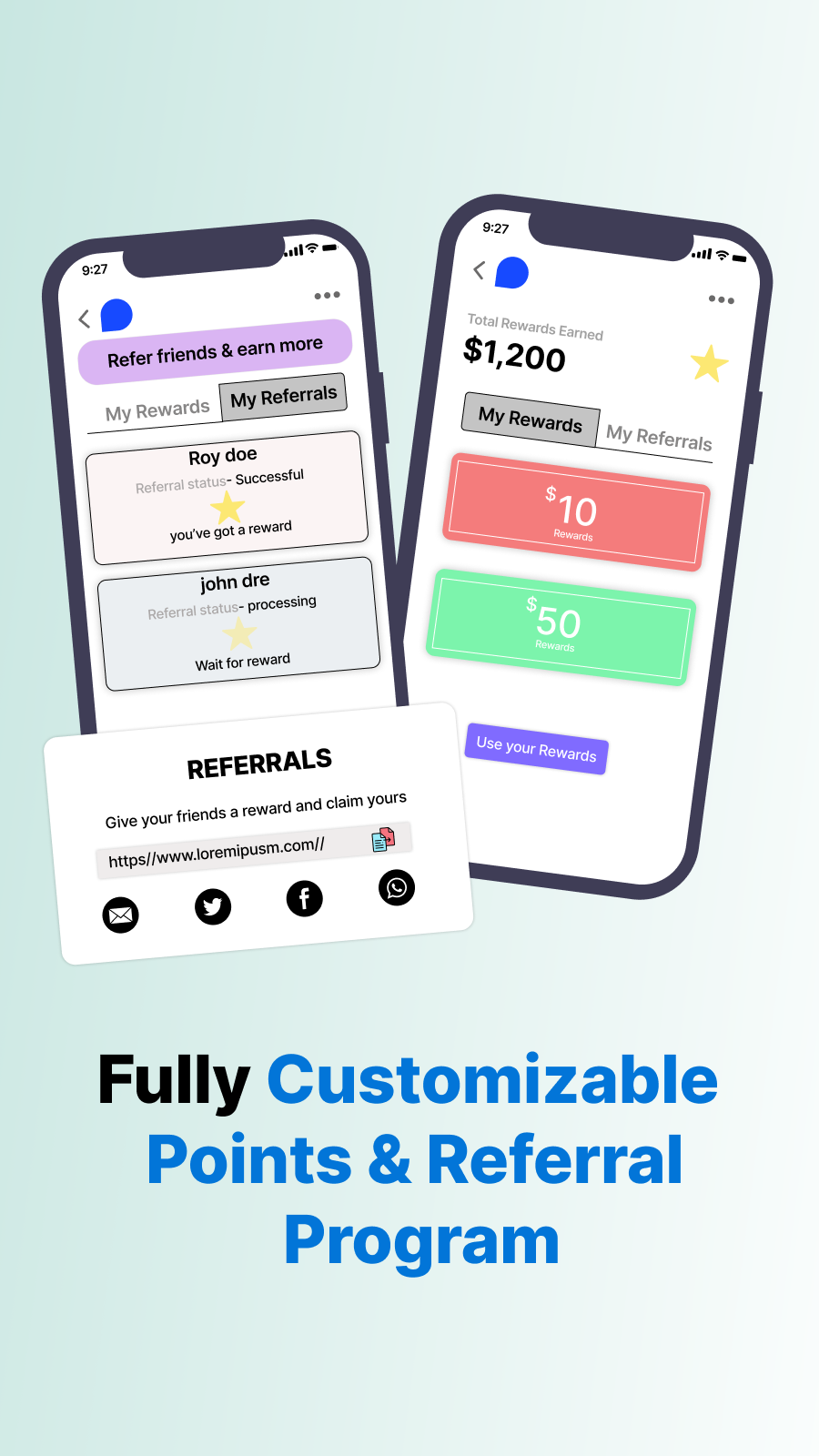 Your brand, your loyalty and rewards program. Fully customizable