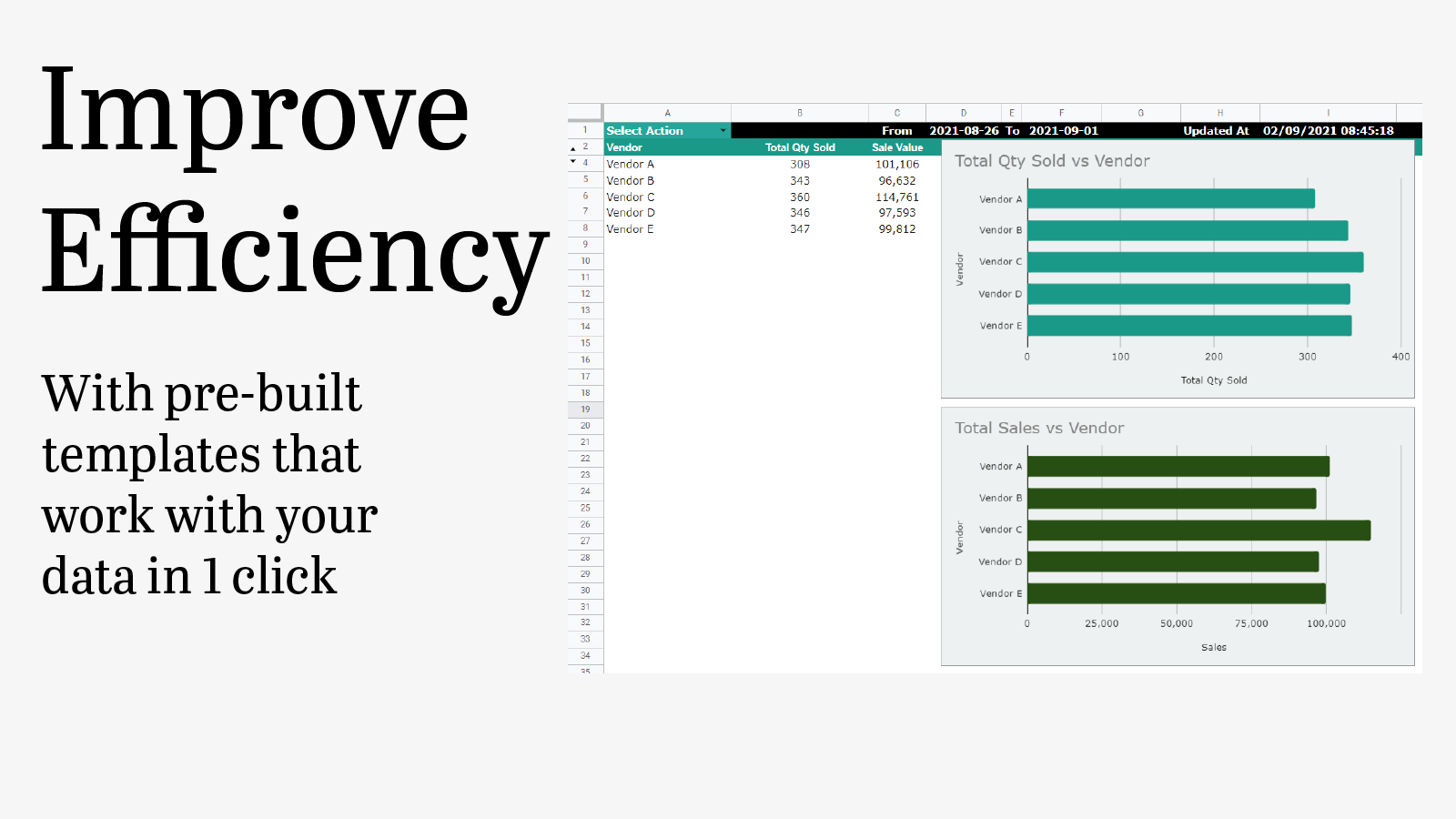 Improve efficiency with pre-built templates