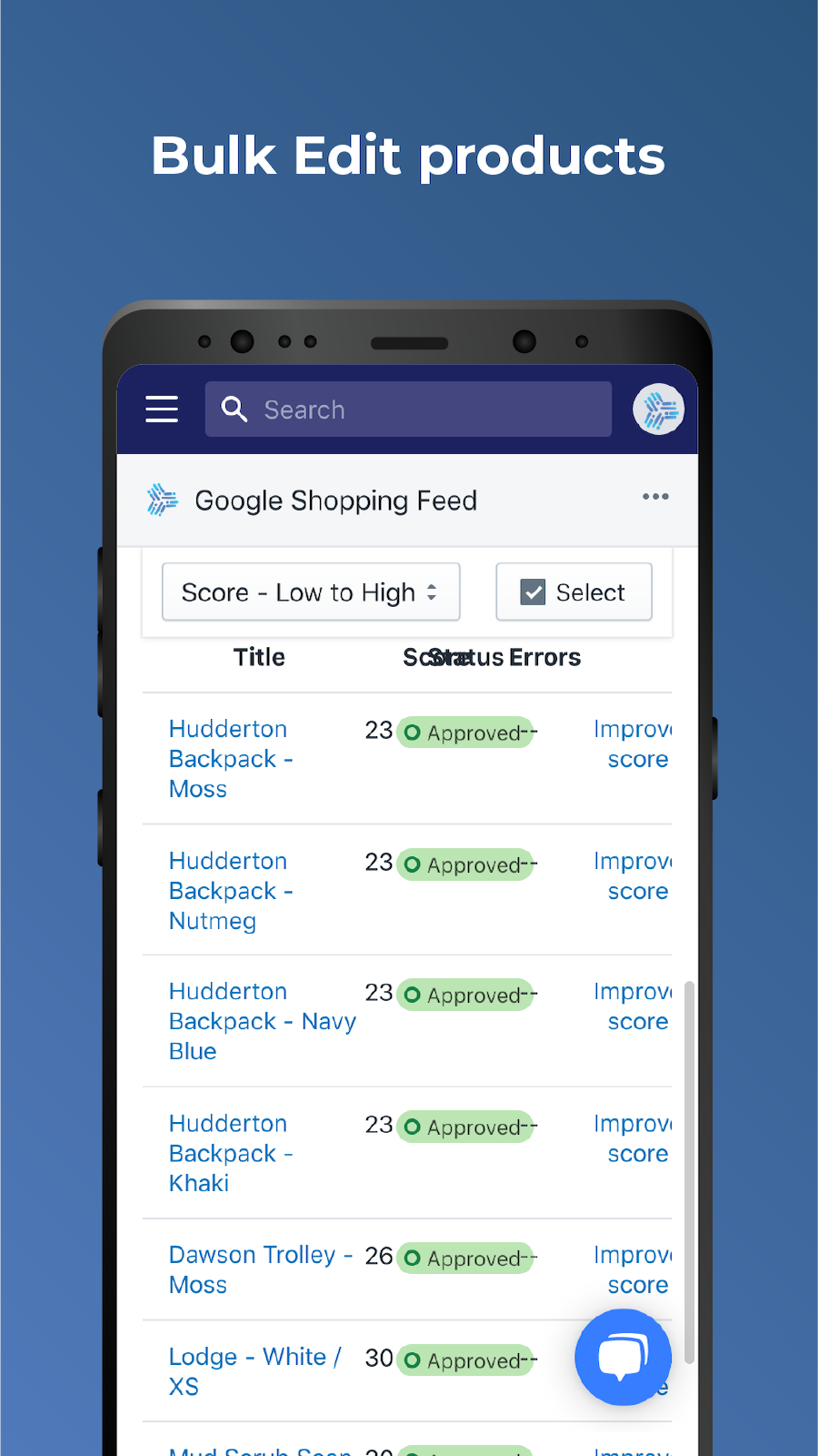 Bulk edit products easily in Google Shopping Feed