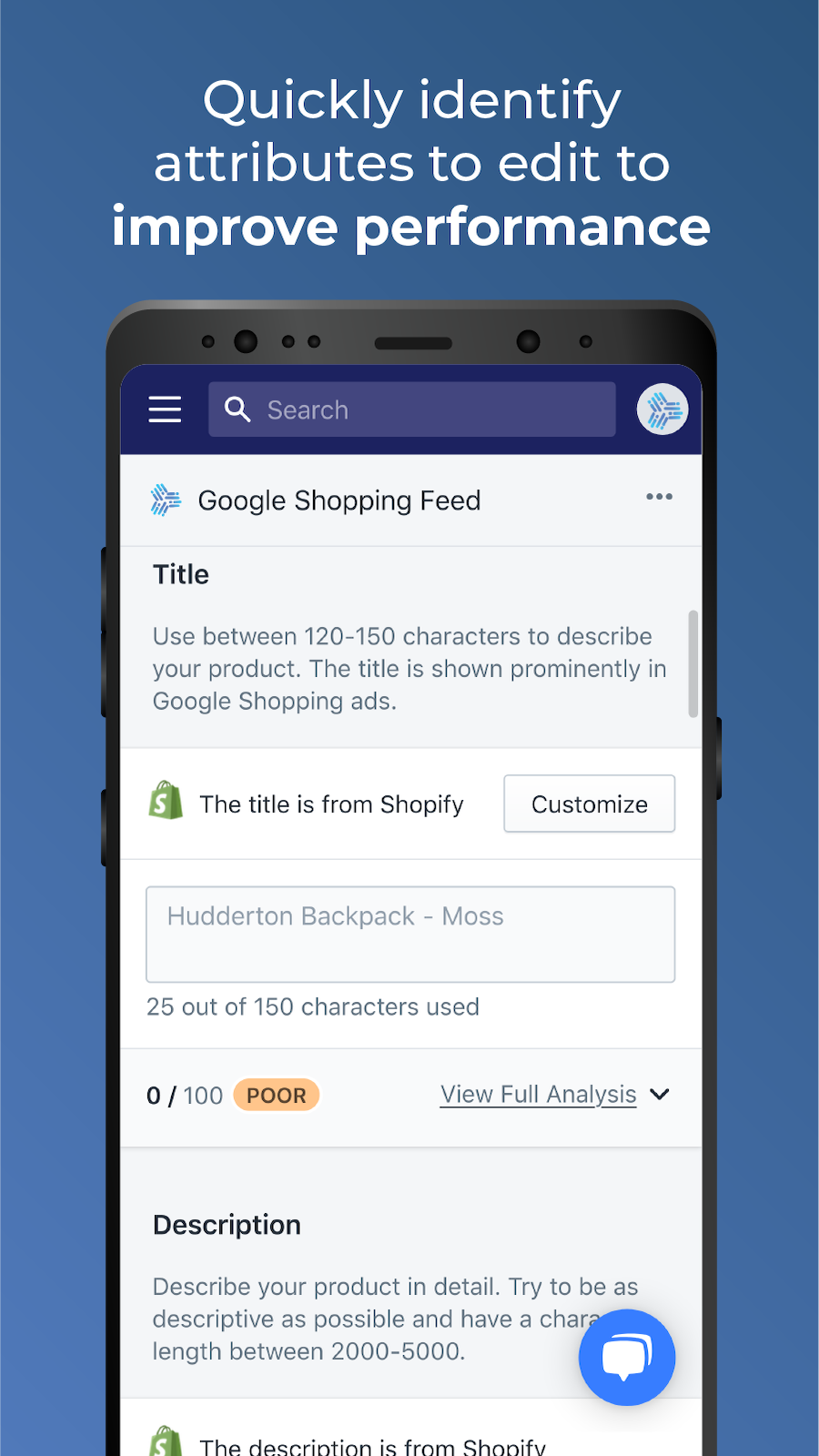 Edit every product and follow Google Shopping's best practices