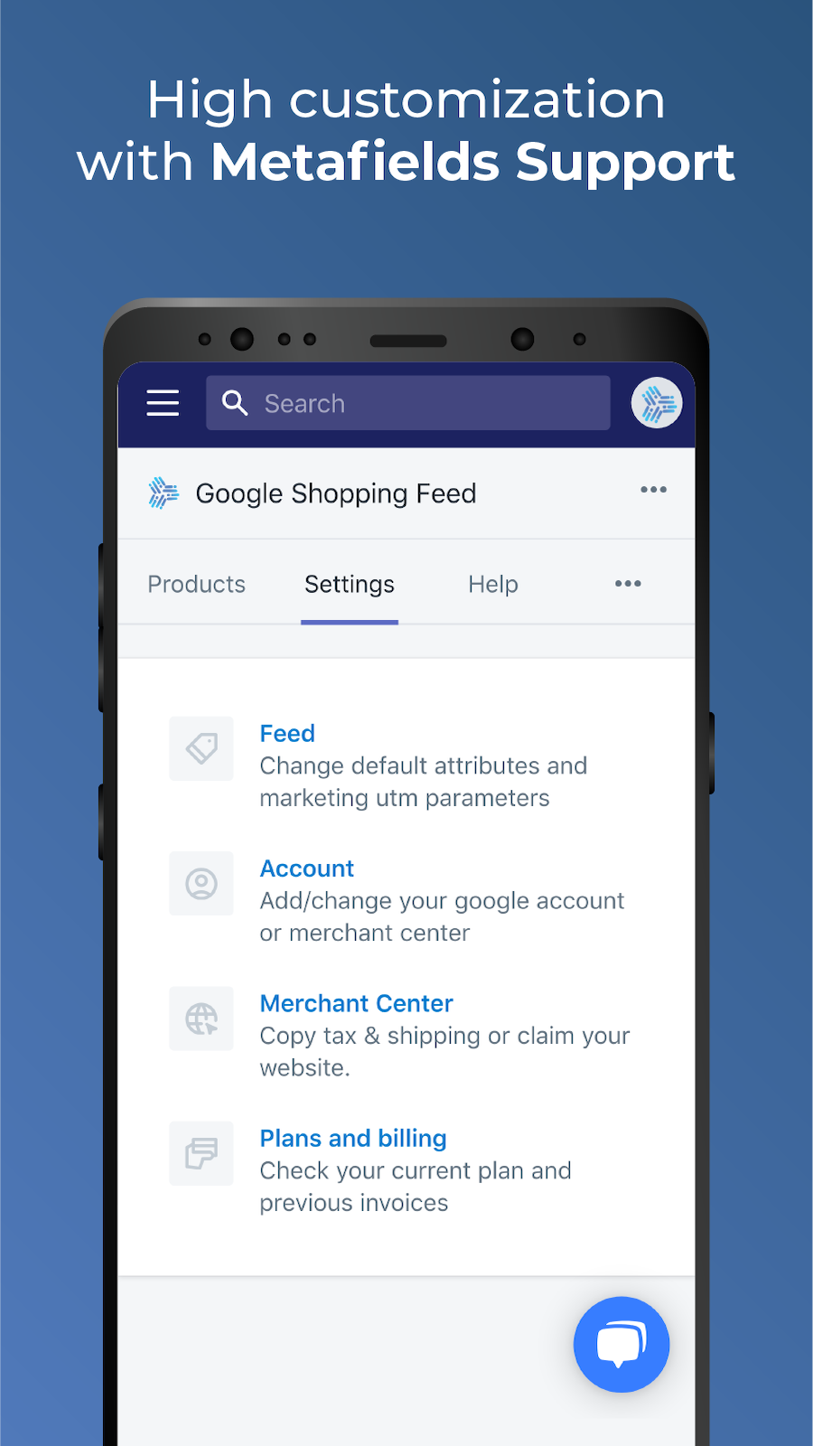 Highly customizable with metafields support for Google Shopping