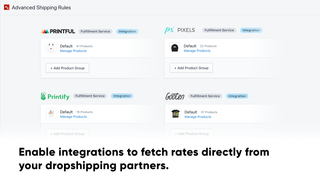 Enable integrations to fetch rates directly from dropshippers