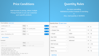 Add pricing conditions and quantity rules