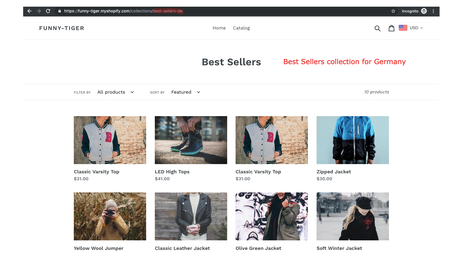 Best Sellers Collection for Germany