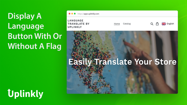 Show A Languages Button With Flag