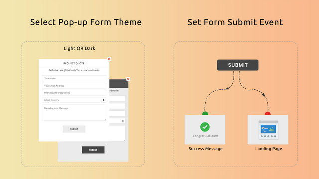 form theme and form submit event