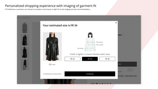 Personalized shopping experience with imaging of garment fit