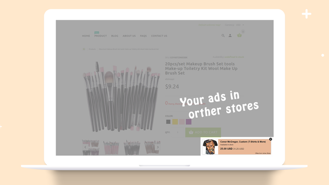 free ads in other shopify store