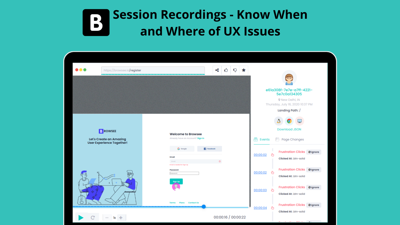 Excatly Know When and Where a User has Faced an Issue