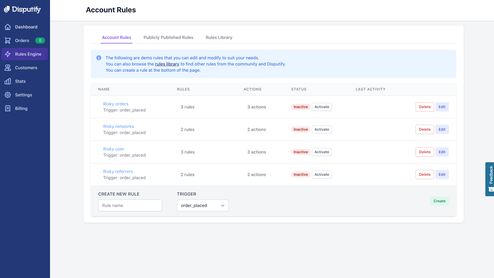 Filter risky products, orders & customers with custom actions