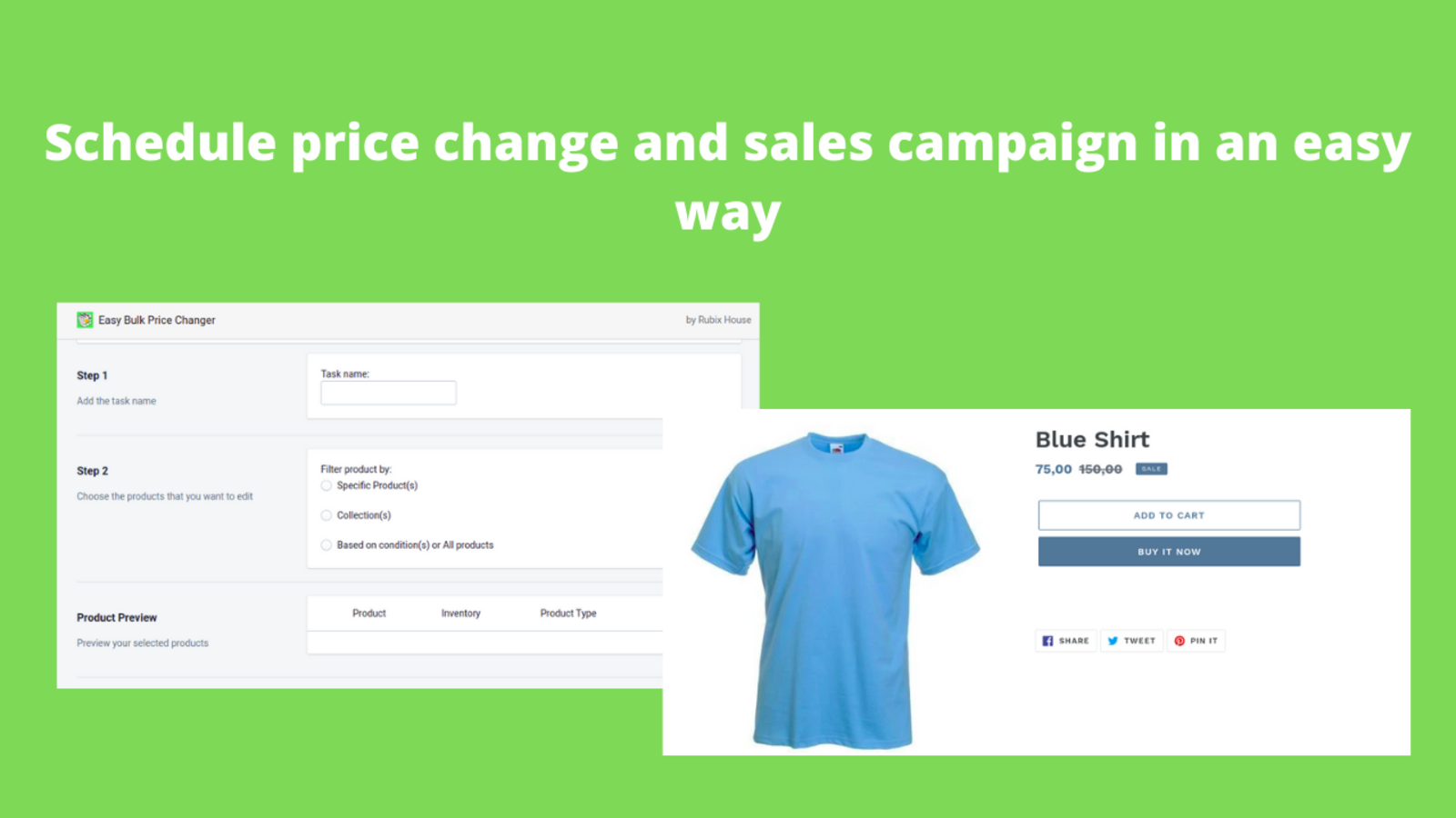 schedule price change and sales campaign in an easy way
