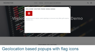 Geolocation based Popups