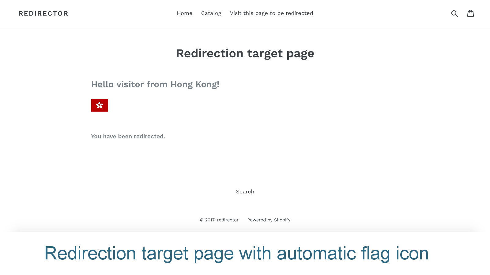 Redirection target page