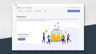 Dashboard of Easy Donation