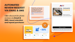 ali reviews automated review request via email sms discount