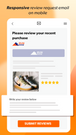 responsive review request on mobile