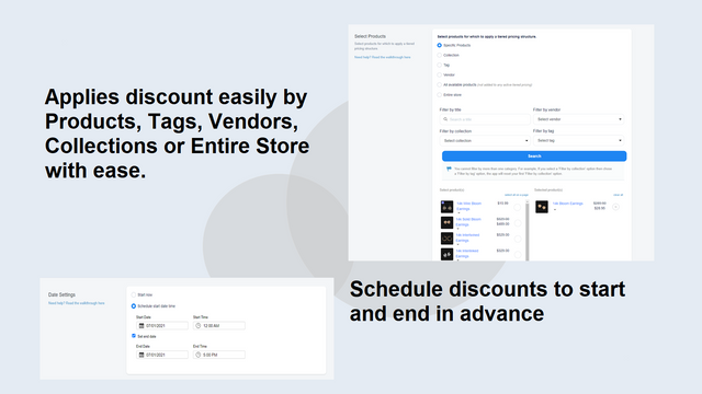 Schedule Pricing and Tags