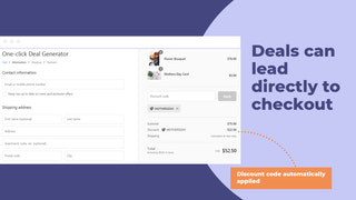 Deal can lead directly to checkout