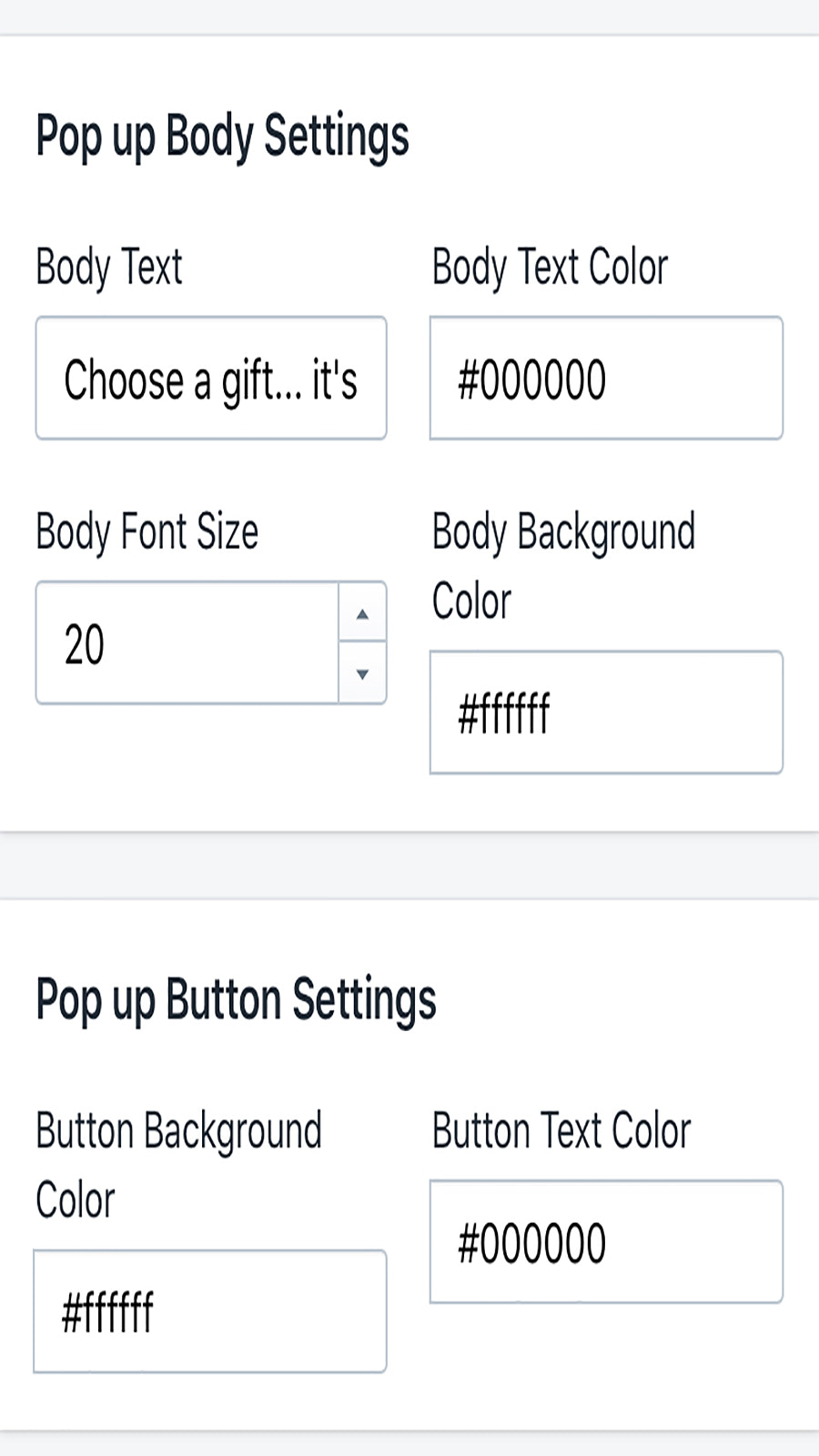 You have the option to customize this app to match your store.