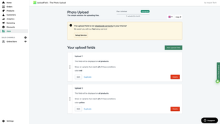 Upload-Field dashboard