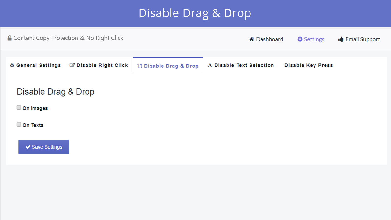 disable drag and drop feature in smart right click disabler app