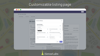 Customizable listing page - fonts, colors, map styles