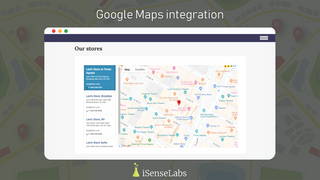 Google maps integration with pins & information popups