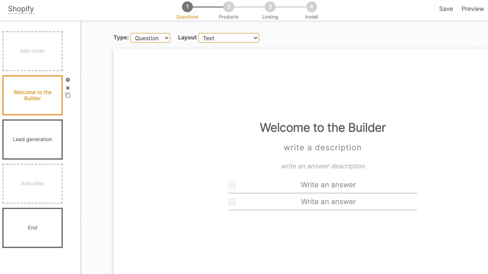 Create with the Builder