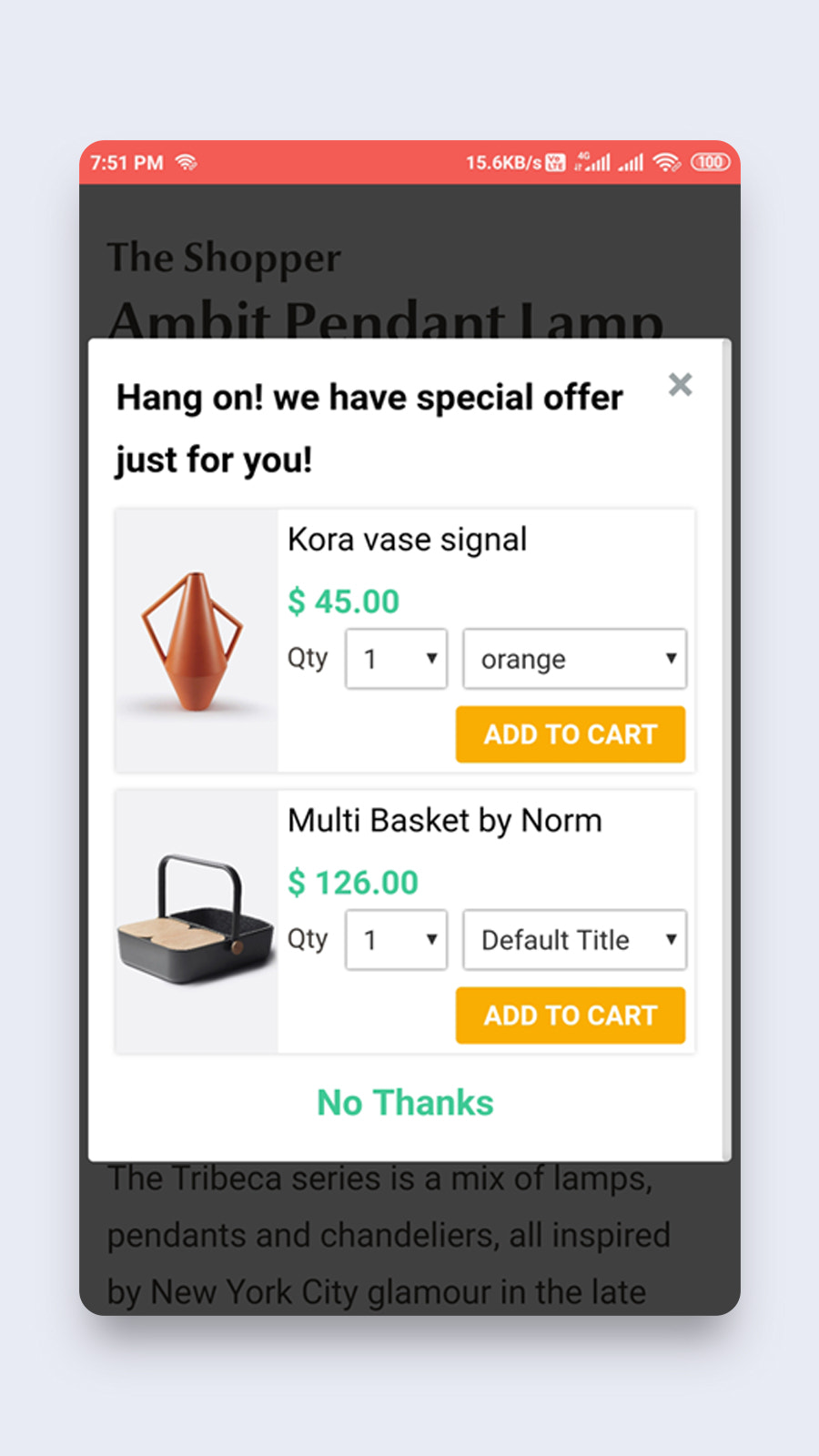 mobile-upsell-popup
