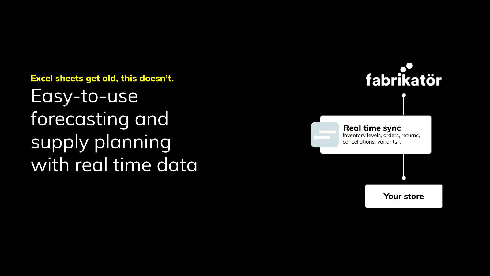 Easy-to-use forecasting and supply planning  with real time data