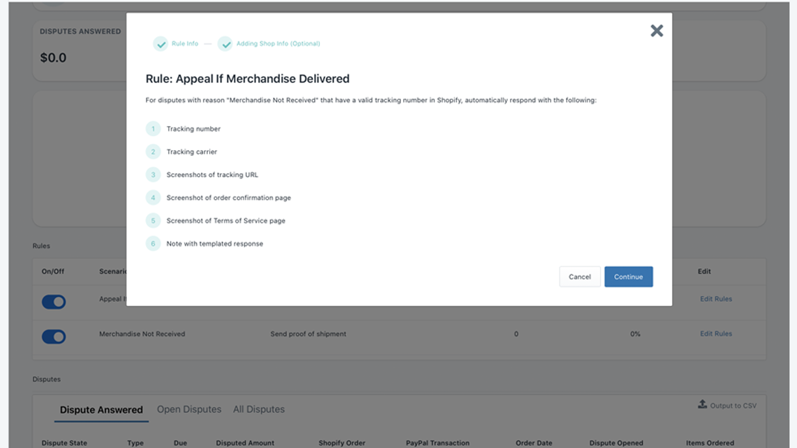Dispute Rule for eligibility to PayPal Seller Protection