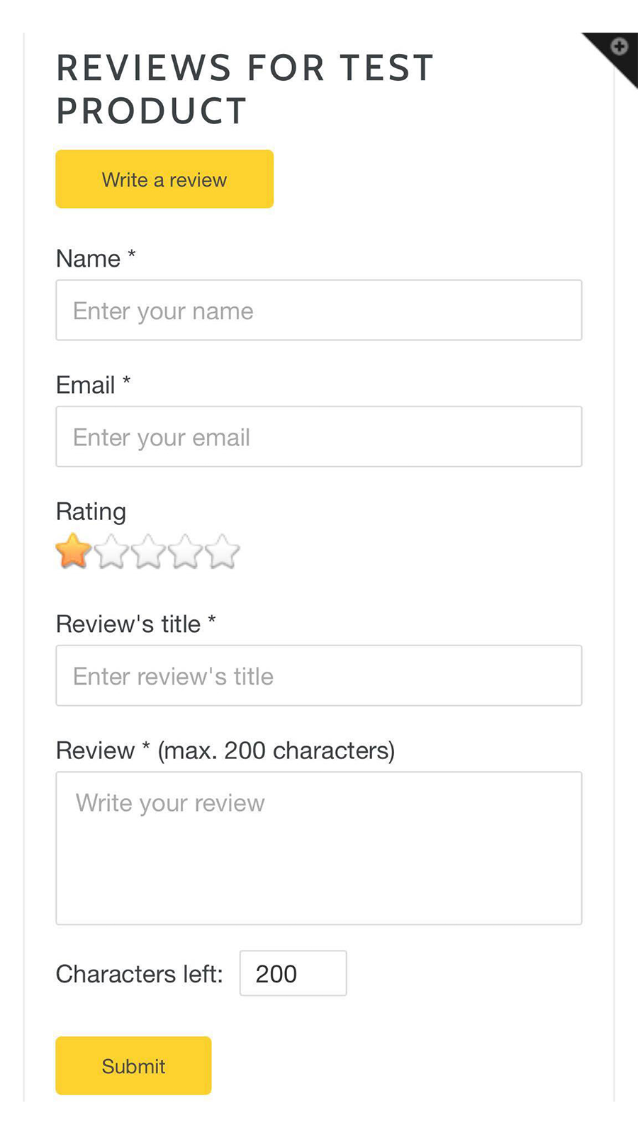 Review form