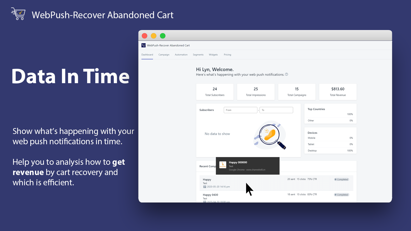Data In Time_WebPush-Recover Abandoned Cart