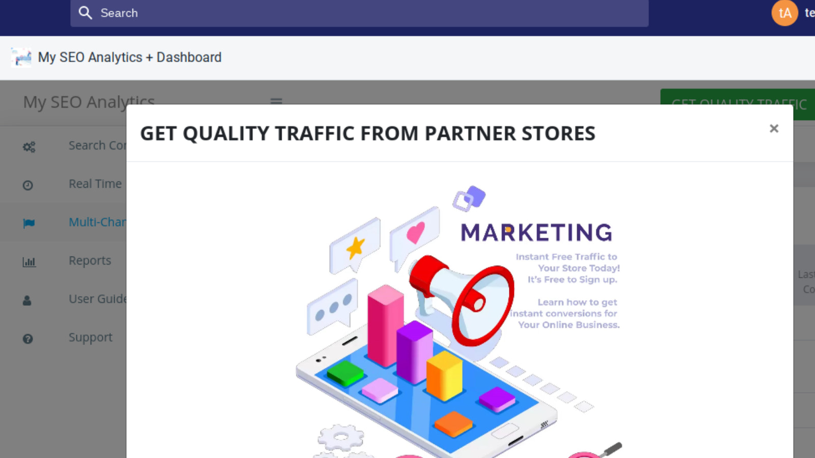 Get Quality and Instant Traffic for Free to Your Website
