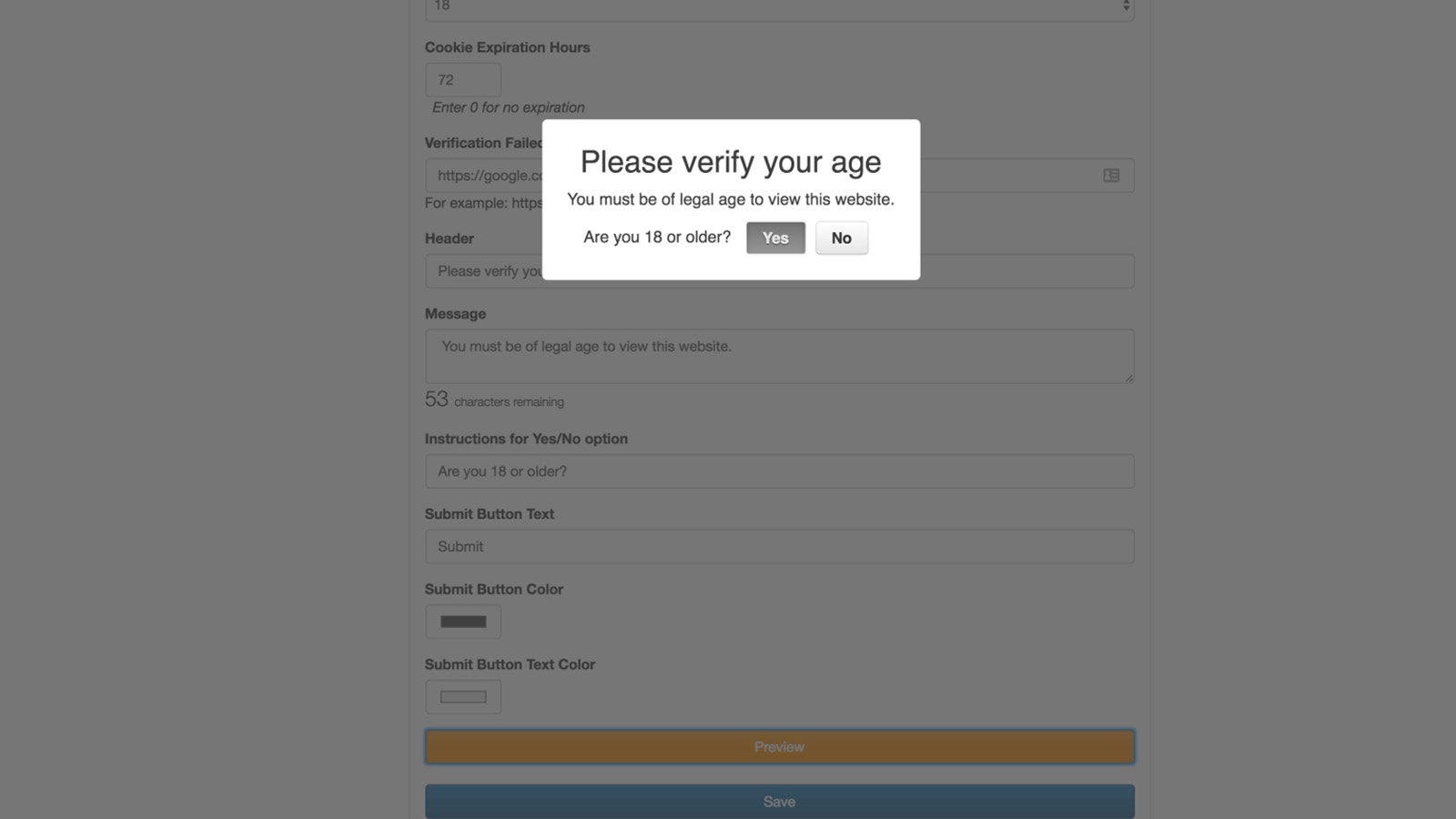 Age Verification for Shopify