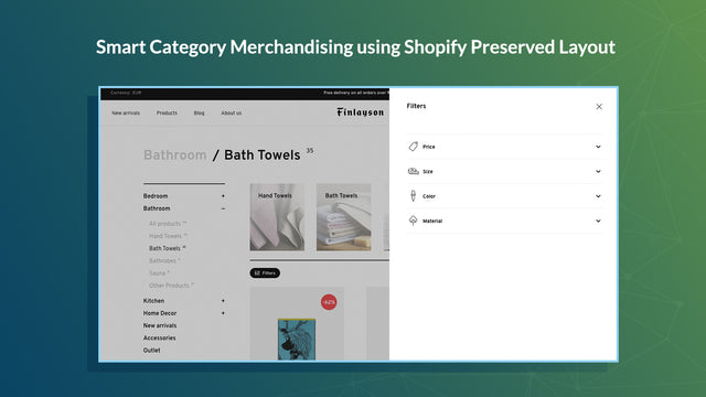 smart category merchandising to power search