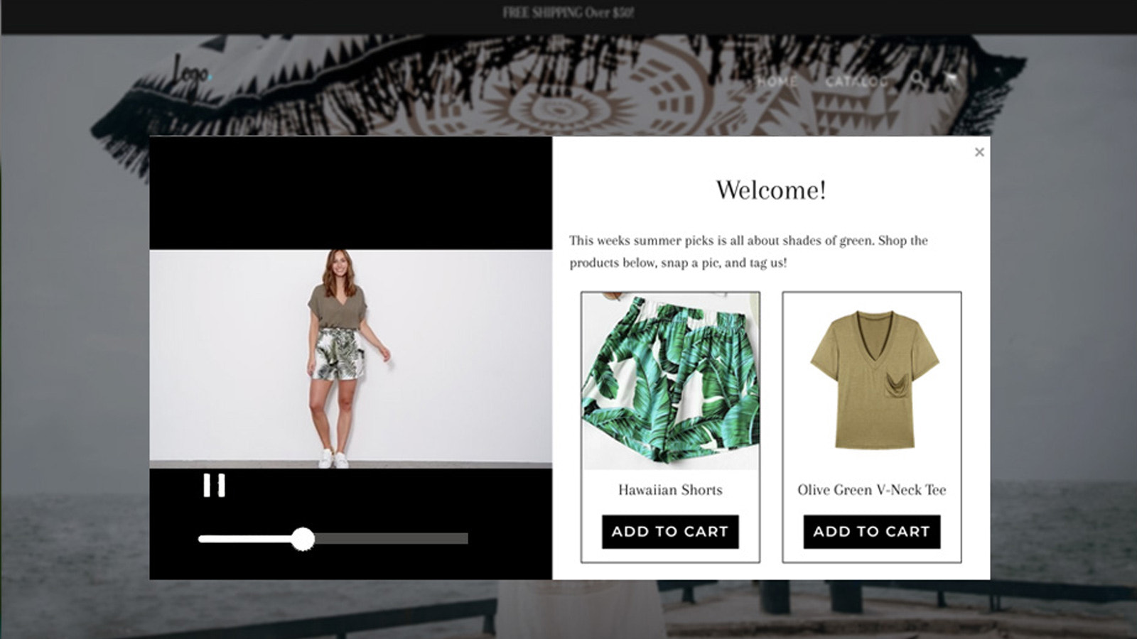Shop Stories Shopify App to Show Video and Upsell Popup