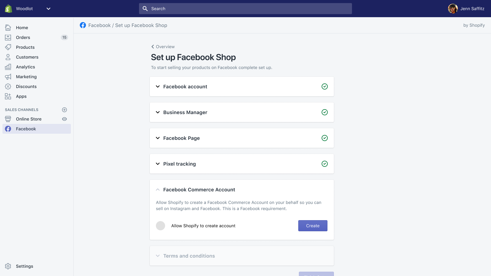 Connect your page to customize your Facebook Shop and pixel