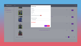 Product setting page