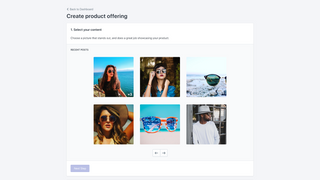Socialite create offering select media step