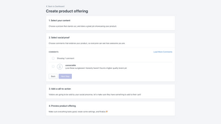 Socialite create offering select comments step