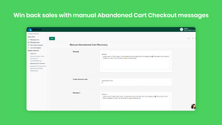 manual Abandoned Cart Checkout messages