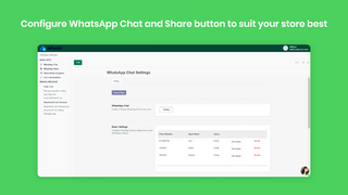 Configure WhatsApp Chat and Share button