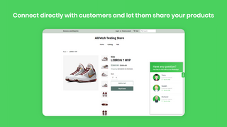 Connect directly with customers