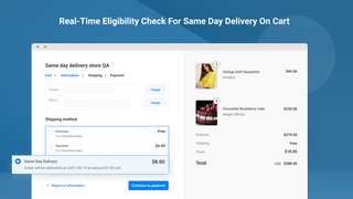 Real-time Eligibility Check For Same Day Delivery
