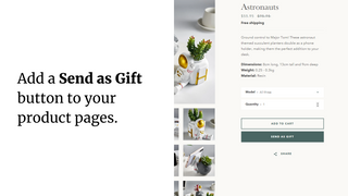 Add a 'Send as Gift' button to your product pages