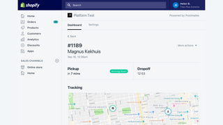 Manage delivery and view status updates in real time
