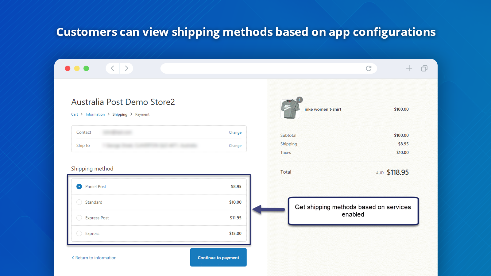 Shopify Australia Shipping Frontend