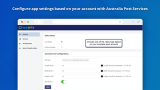 Australia Post Shopify Settings